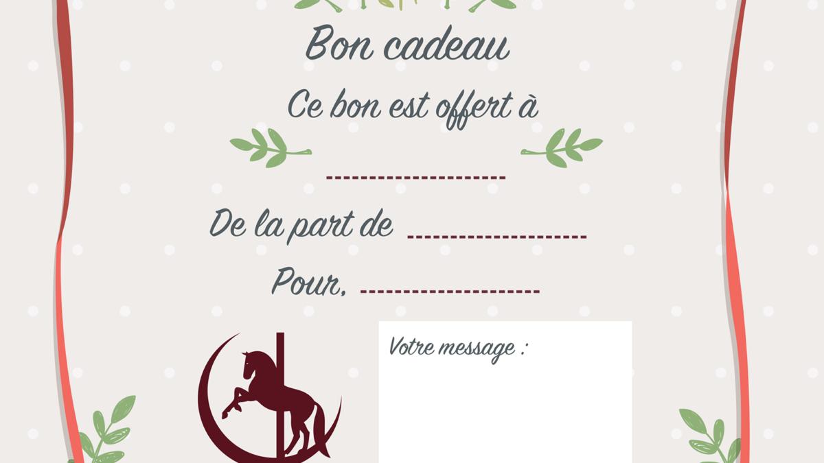 Bon cadeau pole dance Noël !
